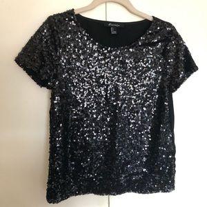 Forever21 black sequin top